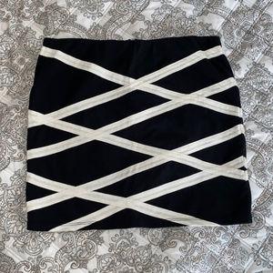 B&W criss cross skirt